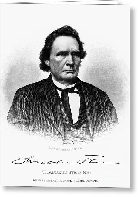 Radicals Greeting Cards - Thaddeus Stevens Greeting Card by Granger