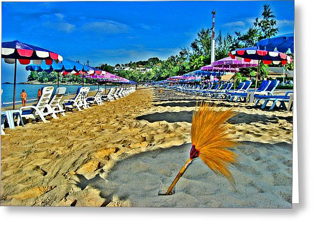 China Beach Greeting Cards - Thai beach. Waiting. Siam. The Kingdom Of Thailand. Greeting Card by Andy Za