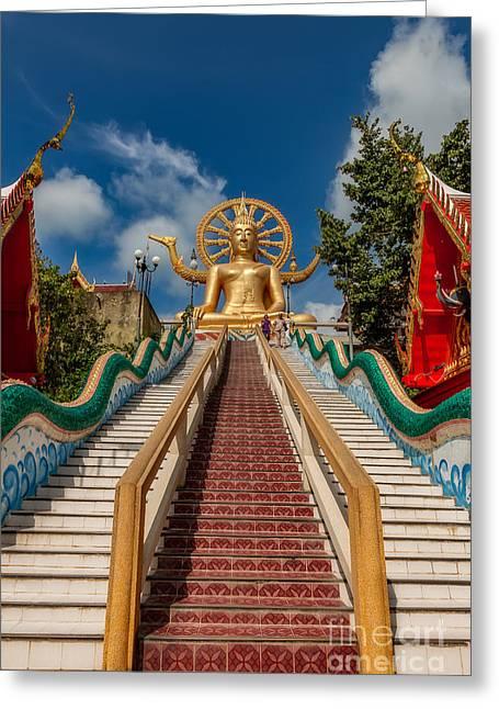 Thai Big Buddha Greeting Card by Adrian Evans