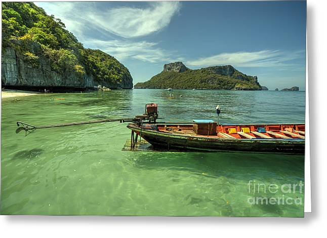 Koh Samui Greeting Cards - Thai Longtail  Greeting Card by Rob Hawkins
