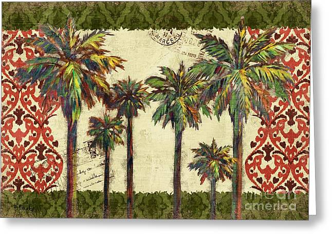 Thai Greeting Cards - Thai Palm Horizontal II Greeting Card by Paul Brent