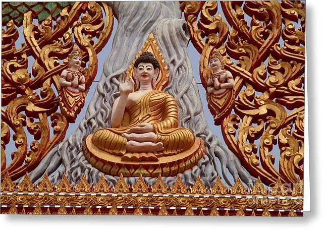 Fulfilled Greeting Cards - Thailand, Nong Khai Greeting Card by Bill Brennan - Printscapes