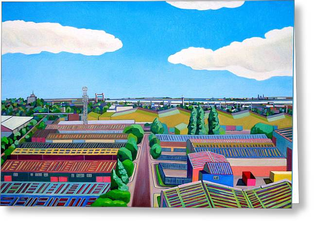Thames Gateway Summer Greeting Card by Noel Paine