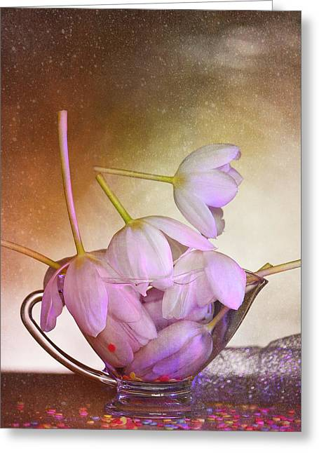 Glass Vase Greeting Cards - Thank You Greeting Card by Jone Vasaitis