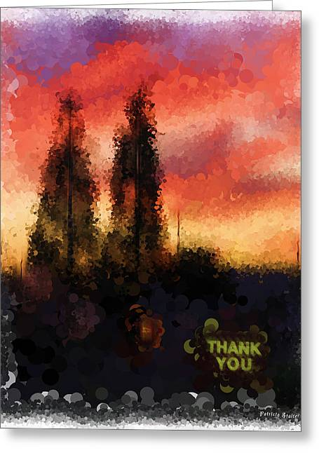 Thank You Greeting Card by Patricia Stalter