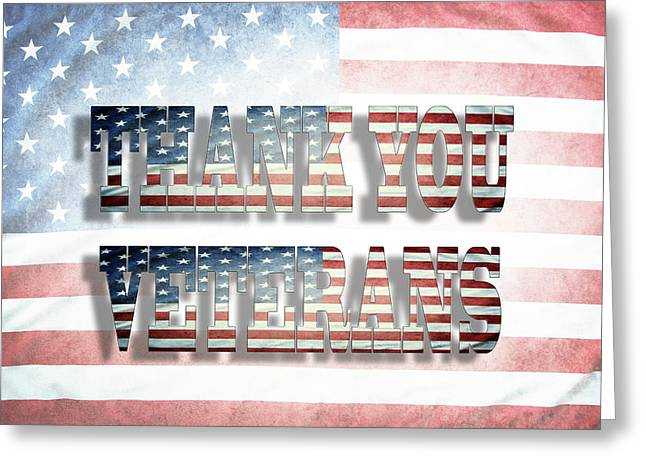 Thank You Veterans Greeting Card by Les Cunliffe