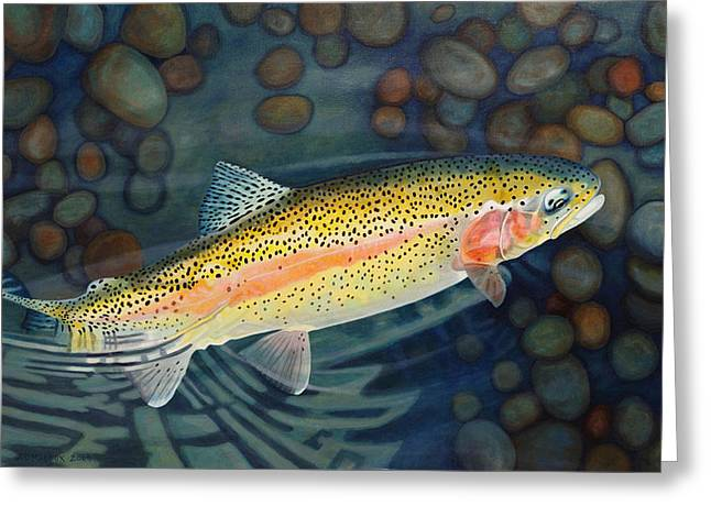 Recently Sold -  - Rainbow Trout Greeting Cards - Thanksgiving Greeting Card by AD Maddox