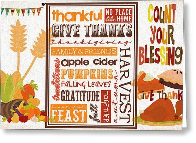 Thanksgiving Bounty Greeting Card by Steve Ohlsen