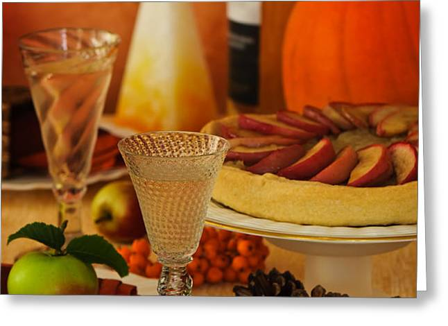 Thanksgiving Table Greeting Card by Amanda And Christopher Elwell
