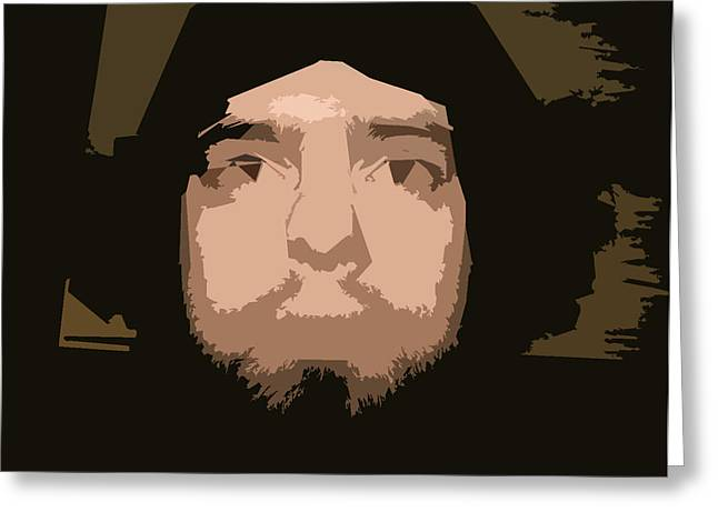 Cut-outs Digital Art Greeting Cards - That Guy Again Greeting Card by Joshua Sunday