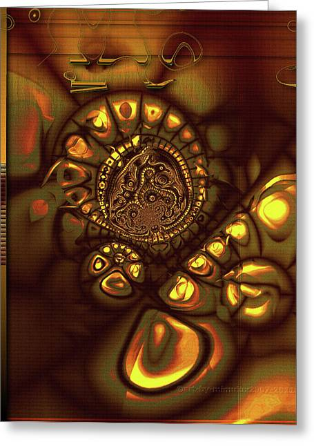 Process Digital Art Greeting Cards - That Inner Glow Greeting Card by Mimulux patricia no