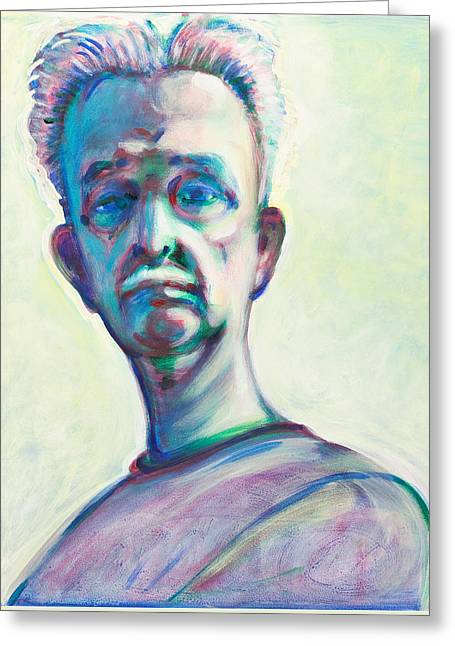 Man In The Mirror Greeting Cards - That look Greeting Card by John Reynolds