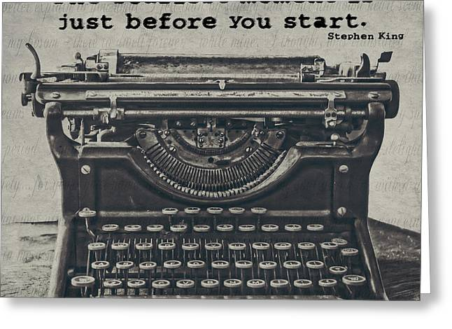 Typewriter Greeting Cards - That Moment Greeting Card by Emily Enz