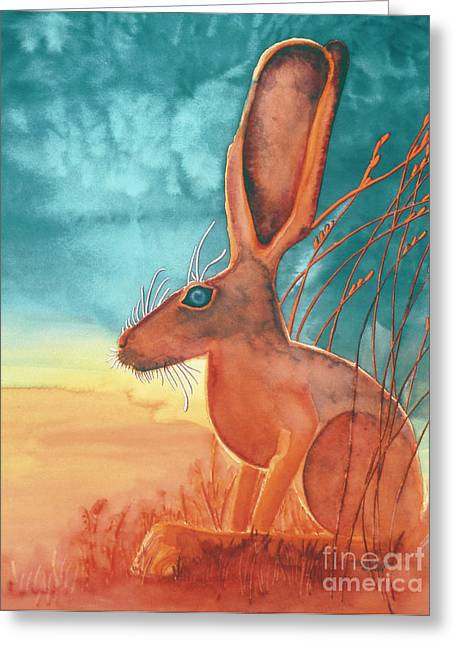 Jack Rabbit Greeting Cards - Thats Some Kind of Jack Greeting Card by Tracy L Teeter