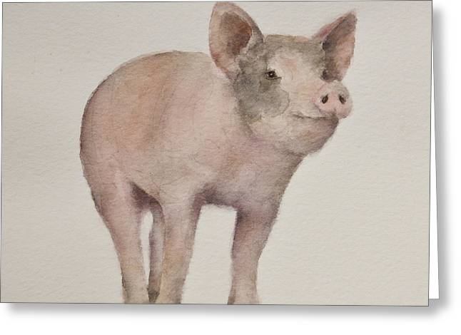 Piglets Greeting Cards - Thats Some Pig Greeting Card by Teresa Silvestri