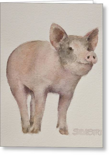 That's Some Pig Greeting Card by Teresa Silvestri