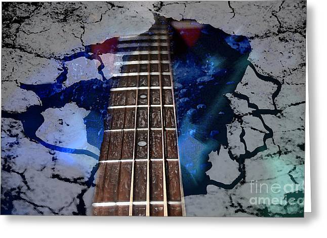 Music Lover Digital Greeting Cards - Thawing The Ice Age  Greeting Card by Cathy  Beharriell