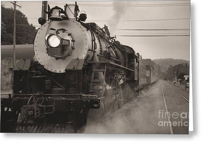 2-8-0 Greeting Cards - The 1702 At Dillsboro Greeting Card by Richard Rizzo
