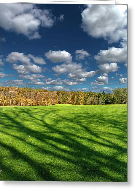 Wisconsin Golf Greeting Cards - The 18th Hole Greeting Card by Phil Koch