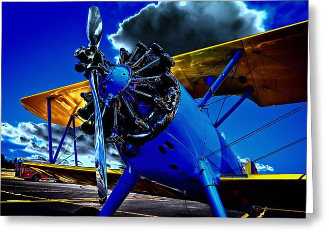 Plane Radial Engine Greeting Cards - The 1940 Stearman Kadet Greeting Card by David Patterson