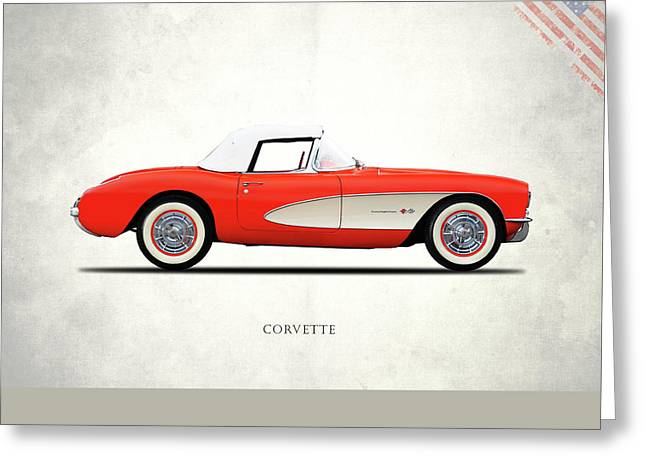 The 1957 Corvette Greeting Card by Mark Rogan