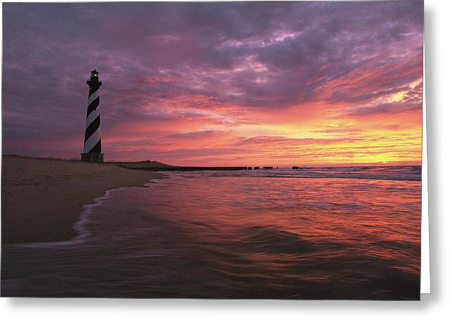 Cape Hatteras Greeting Cards - The 198-foot tall Greeting Card by Steve Winter
