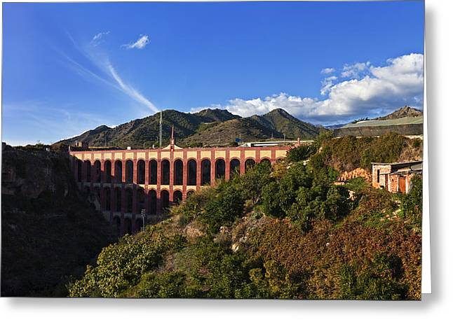 Andalucia Greeting Cards - The 19th Century Eagle Aqueduct Acueducto del Aguila Andalucia Spain Greeting Card by Panoramic Images