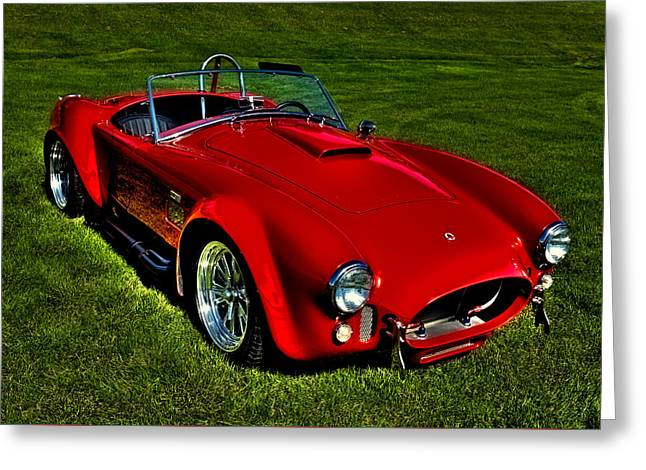 Red Street Rod Greeting Cards - The 2003 Shelby Superformance MKIII Greeting Card by David Patterson