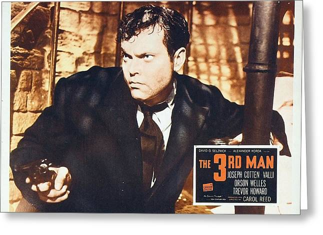 Film Noir Greeting Cards - The 3rd Man - Joseph Cotten Greeting Card by Nomad Art And  Design