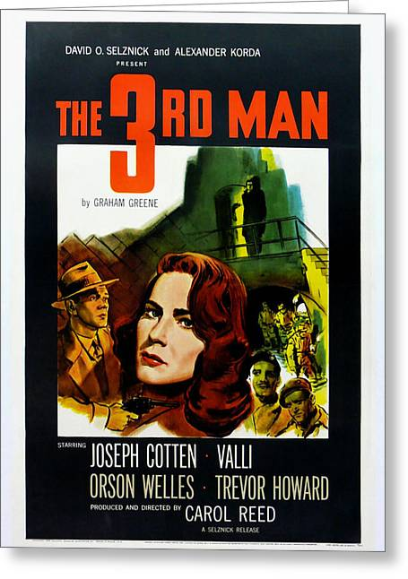 Film Noir Greeting Cards - The 3rd Man Greeting Card by Nomad Art And  Design