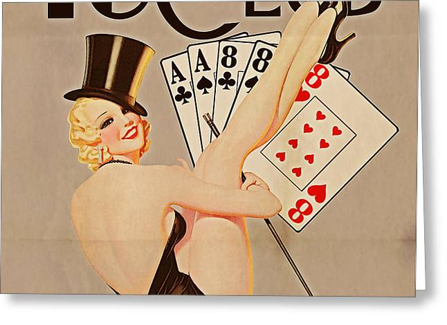 The 48 Club Greeting Card by Cinema Photography