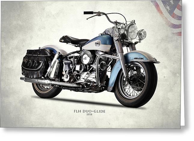 The 58 Harley Flh Greeting Card by Mark Rogan