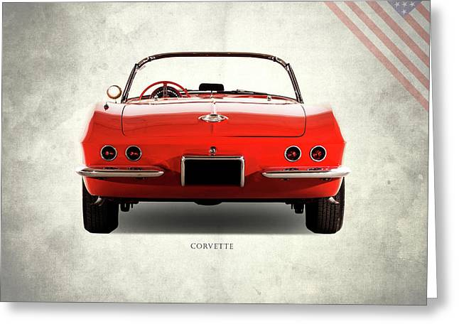 The 62 Corvette Greeting Card by Mark Rogan