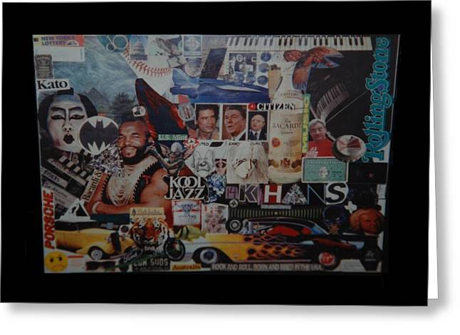 Nostalga Greeting Cards - THE 80 s COLLAGE Greeting Card by Rob Hans
