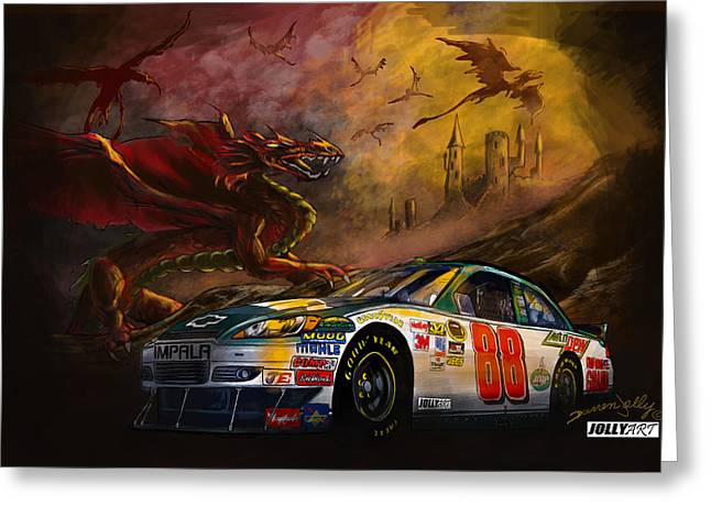 Dale Earnhardt Jr Greeting Cards - The 88 Greeting Card by Darren Jolly