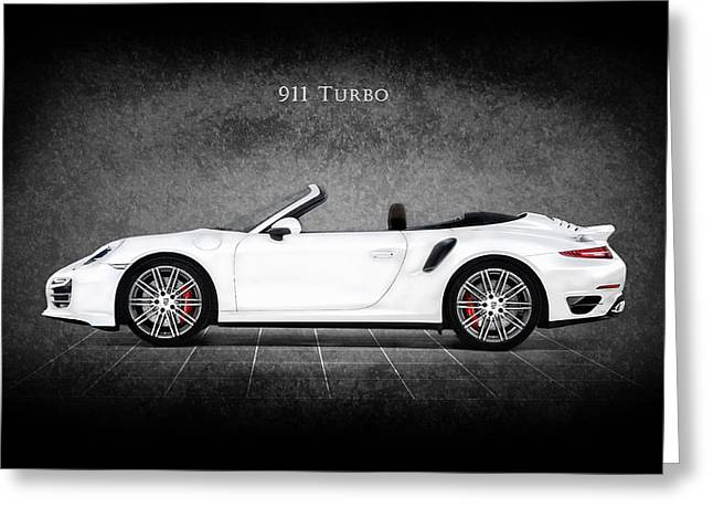 Porsche Car Greeting Cards - The 911 Turbo Greeting Card by Mark Rogan