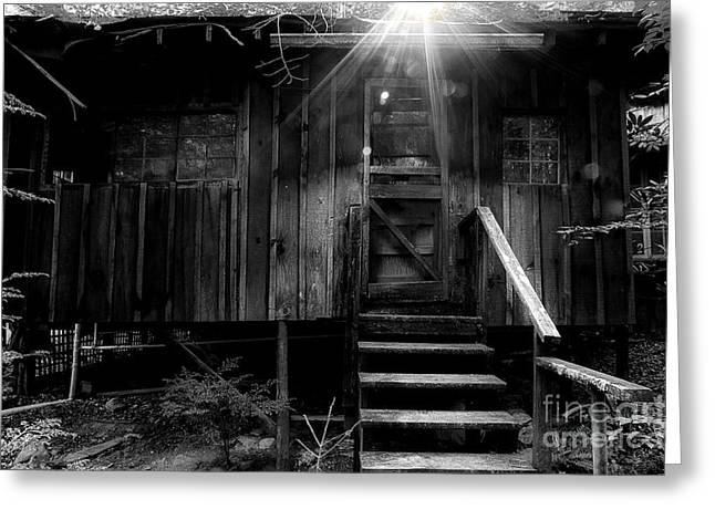 Abandoned Houses Greeting Cards - The Absent Spirits Greeting Card by Michael Eingle