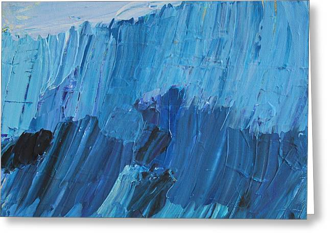 Surf City Greeting Cards - The Abstract Blues Greeting Card by Robert Yaeger