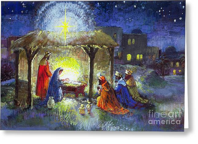 The Adoration Of The Magi  Greeting Card by Stanley Cooke