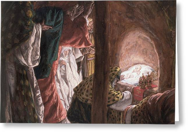 The Adoration of the Wise Men Greeting Card by Tissot