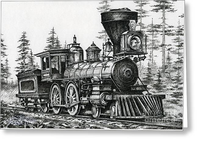 Classic American Railroad Greeting Cards - The Age of Steam Greeting Card by James Williamson