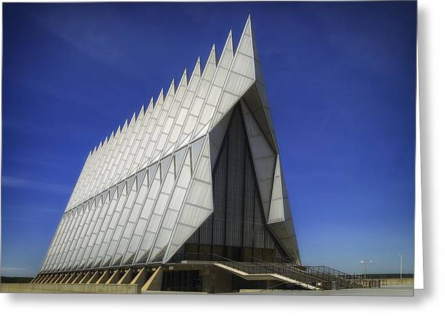 Colorado State University Greeting Cards - The Air Force Academy Chapel Greeting Card by Mountain Dreams
