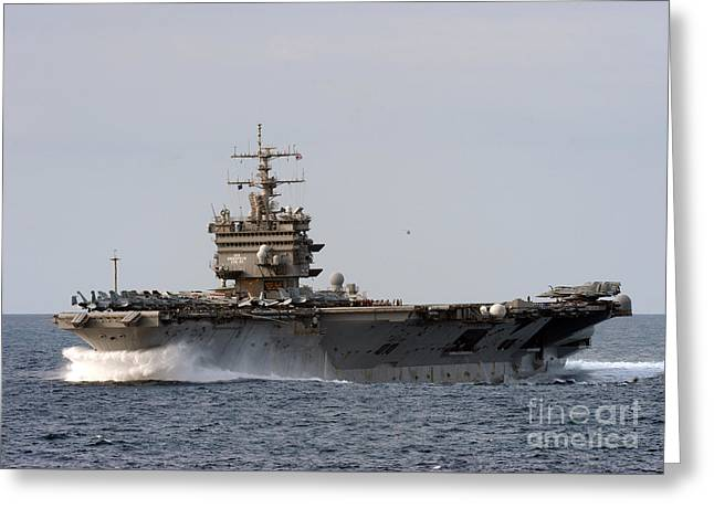 Enterprise Paintings Greeting Cards - the aircraft carrier USS Enterprise Greeting Card by Celestial Images