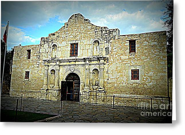 The Alamo Greeting Card by Jim Cook