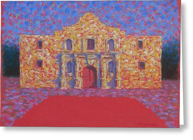 Heroes Pastels Greeting Cards - The Alamo Greeting Card by Michael Gillespie