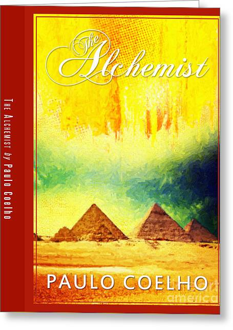 The Alchemist Book Cover Poster Art 3 Greeting Card by Nishanth Gopinathan