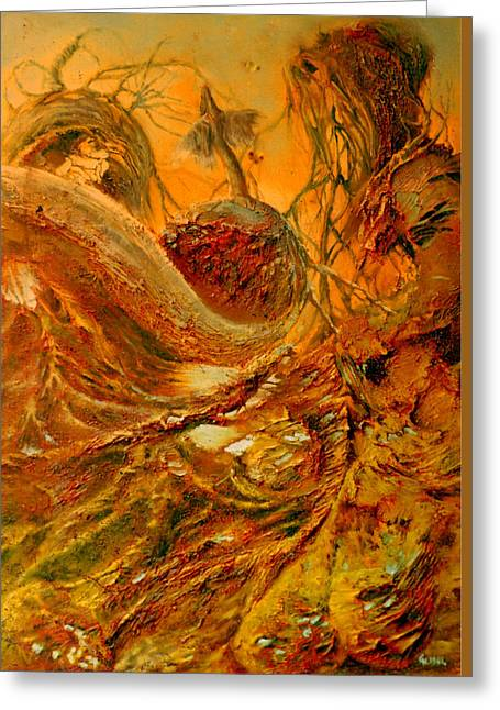 Transfer Paintings Greeting Cards - The Alchemist Greeting Card by Henryk Gorecki