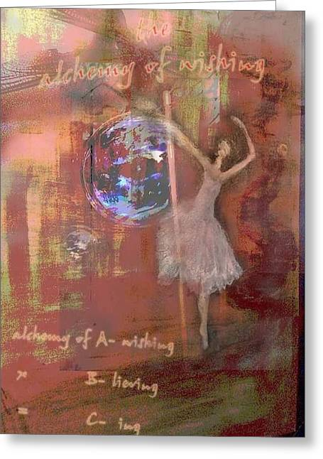 Spiral Staircase Mixed Media Greeting Cards - The Alchemy of A Wishing Greeting Card by Max Denver
