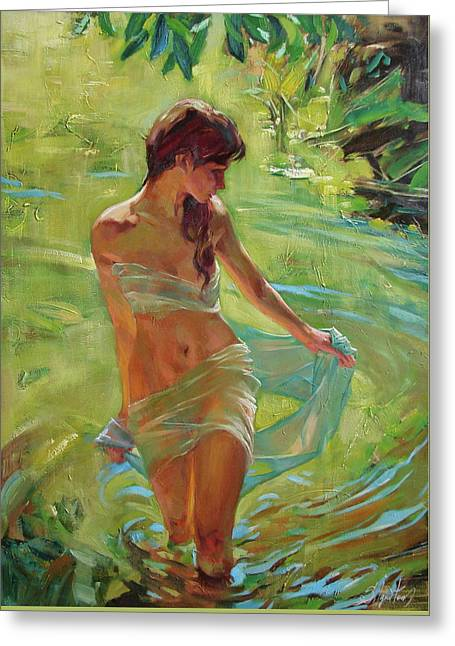 Greeting Cards - The allegory of summer Greeting Card by Sergey Ignatenko