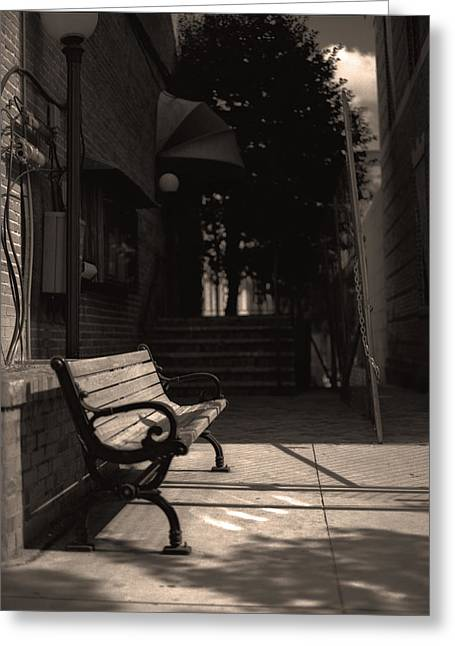 Ally Photographs Greeting Cards - The Alleyway Greeting Card by Ayesha  Lakes